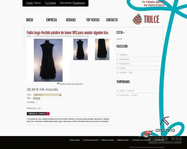 288cf16016ecd Ficha presentando el producto en tienda virtual de ropa trilce.es