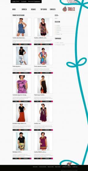 Portada tienda online ropa alternativa trilce.es