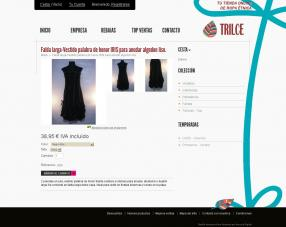 Ficha presentando el producto en tienda virtual de ropa trilce.es