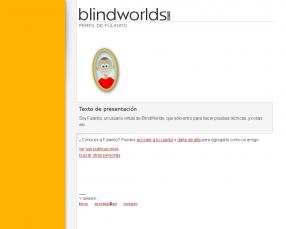 Un perfil de usuario (fulanito, un bot de pruebas)