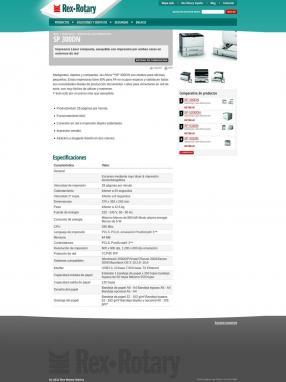 Ficha de un producto