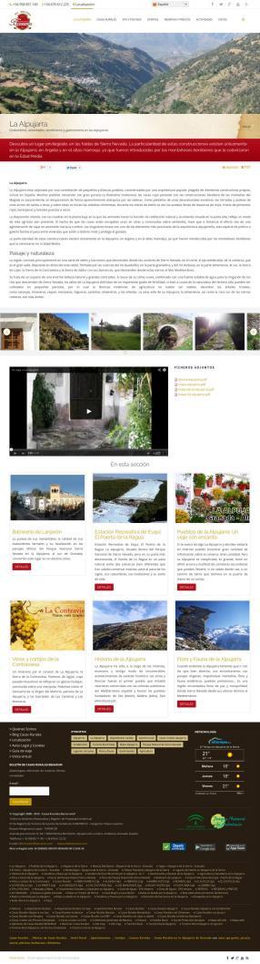 Página informativa con referencia a contenidos de sección