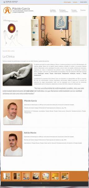 Página sobre la clínica, galería fotográfica al pie